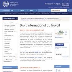 La présentation des sources internationales
