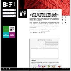 Prix International IFLA - BibLibre 2016 du marketing dans les bibliothèques