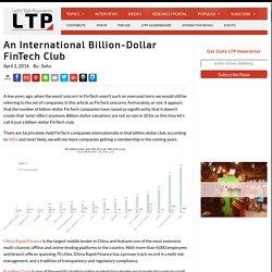 An International Billion-Dollar FinTech Club