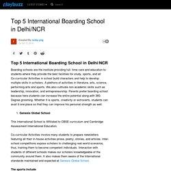 Top 5 International Boarding School in Delhi/NCR