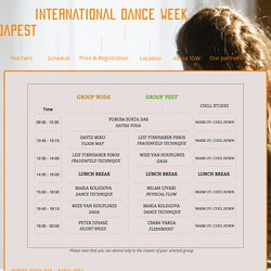 International Dance Week Budapest