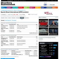 SPORTS DIRECT INTERNATIONAL (SPD:London): CEO & Executives