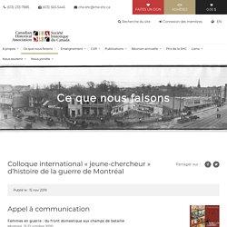 Colloque international « jeune-chercheur » d'histoire de la guerre de Montréal