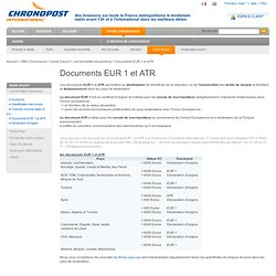 Chronopost - Documents EUR 1 et ATR
