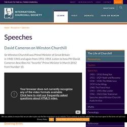 Speeches Archives - The International Churchill Society