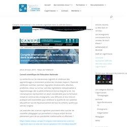 Congrès international « Les sciences cognitives dans la salle de classe »