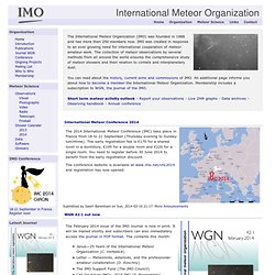 International Meteor Organization | International Collaboration in Meteor Science