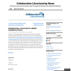 INTERNATIONAL COALITION OF LIBRARY CONSORTIA (ICOLC) | Collaborative Librarianship News
