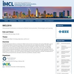 IMCL2016 – International Conference on Interactive Mobile Communication, Technologies and Learning