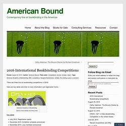 2016 International Bookbinding Competitions