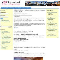 itSMF International - IT Service Management, ITIL and compliment