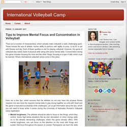 Guide to Improve Mental Focus & Concentration in Volleyball