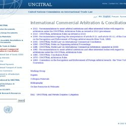 International Commercial Arbitration & Conciliation-UNCITRAL