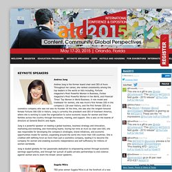 ATD 2015 (formerly ASTD) International Conference and Exposition - Keynote Speakers