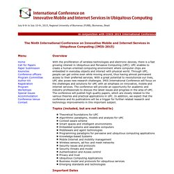 IMIS 2015: The 9th International Conference on Innovative Mobile and Internet Services in Ubiquitous Computing