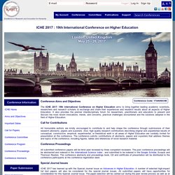 ICHE London 2017: 19th International Conference on Higher Education