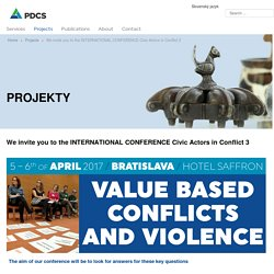 We invite you to the INTERNATIONAL CONFERENCE Civic Actors in Conflict 3