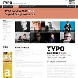 TYPO London 2011 | Places | Schedule | Saturday