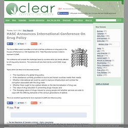 HASC Announces International Conference On Drug Policy | CLEAR