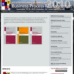 BPM 2010 | 8th International Conference on Business Process Management