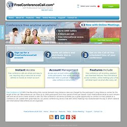 Free Conference Call, Phone Conferencing, Teleconferences - Free