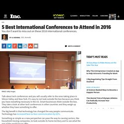 5 Best International Conferences to Attend in 2016