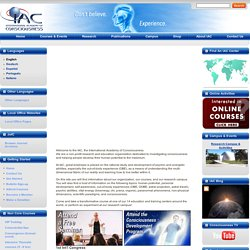 Welcome to the IAC - International Academy of Consciousness