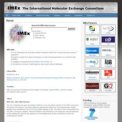 Home | The International Molecular Exchange Consortium