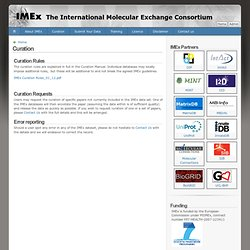 Curation | The International Molecular Exchange Consortium