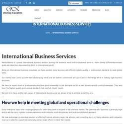 International Business Services and Consulting