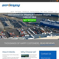 International Car Shipping & Container Shipping Rates from USA