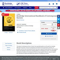 Routledge International Handbook of Contemporary Racisms - 1st Edition