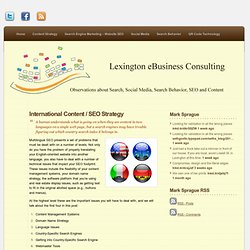 Multi-Lingual SEO « Lexington eBusiness Consulting: Mark Sprague's Blog