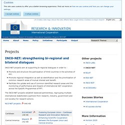 Projects INCO-NET - International Cooperation - Research & Innovation