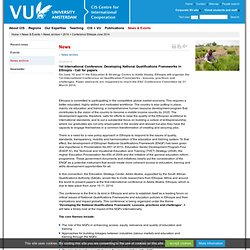 Conference Ethiopia June 2014 - 2014 - Centre for International Cooperation, VU University Amsterdam