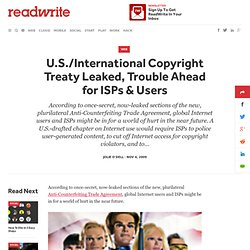 U.S./International Copyright Treaty Leaked, Trouble Ahead for IS