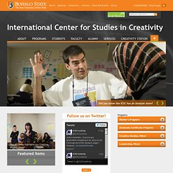International Center for Studies in Creativity - Buffalo State College - Books, Blogs, Video & More... - Theses and Projects
