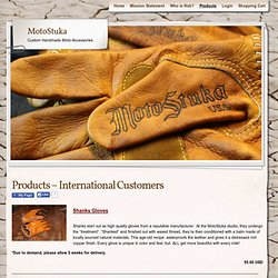 Products – International Customers