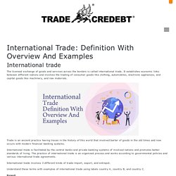 International Trade: Definition With Overview And Examples