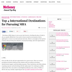 Top 4 International Destinations for Pursuing MBA
