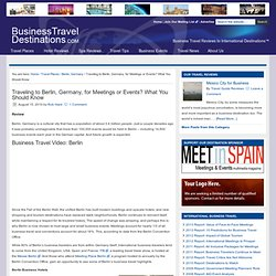 Business Travel Berlin, Germany — Business Travel Destinations