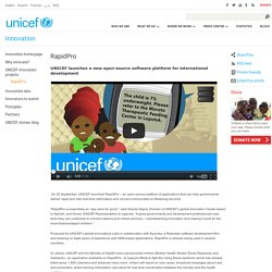 UNICEF launches a new open-source software platform for international development