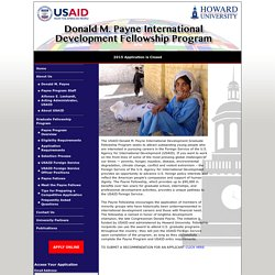 Donald M. Payne International Development Fellowship Program
