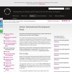 Artists' International Development Fund
