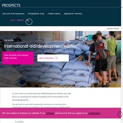 International aid/development worker job profile