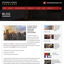 A sneak peek at international trade and economic development - Ari Afilalo