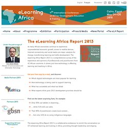 eLearning Africa 2013 / International Conference on ICT for Development, Education and Training. An Annual Event for Building eLearning Capacities in Africa.
