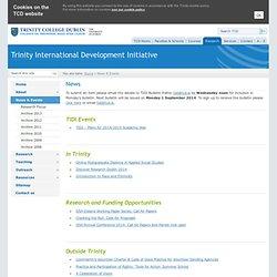 News & Events - Trinity International Development Initiative