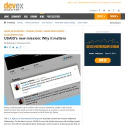 USAID's new mission: Why it matters - Development Buzz
