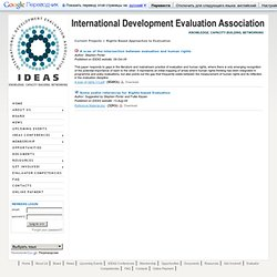 IDEAS - International Development Evaluation Association - Home
